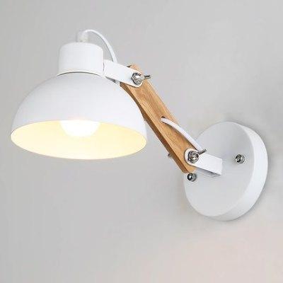 北欧木艺楼梯过道灯 创意工业墙挂灯美式复古餐厅灯床头卧室壁灯