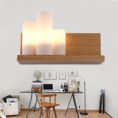 现代简约创意墙壁灯壁挂温馨原木灯具卧室床头灯