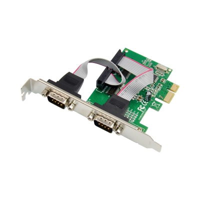 PCI Express 382L 2S DB9 Serial RS232-port Control card