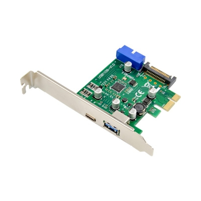 PCI Express NEC720201 USB 3.1 Type C+A (2.4A) Expansion card